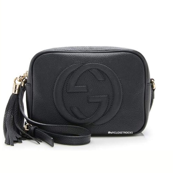 Gucci Handbags - SOLD Gucci Black Disco Crossbody Bag